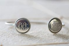 Sterling Silver Nautical Monogram Bracelet Stacking by netexchange