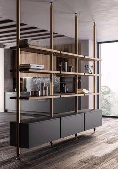 Living Room Partition Design, Room Partition Designs, Partition Ideas, Living Room Divider, Office Interior Design, Office Interiors, Interior Design Videos, Interior Colors, Muebles Living