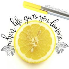 «When life gives you lemons #.... Photograph a slice and letter around it #whenlifegivesyoulemons . . . This is why I LOOOOOVE the PhotoLayers app...…»