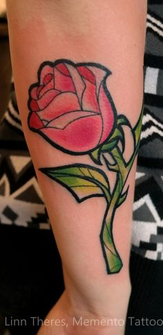 Beauty and the beast rose by Mythos-Tattoo.deviantart.com on @deviantART