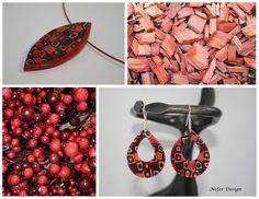 Black and red polymer clay