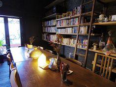 Nara Of Japan. Nramachi. This is Book cafe. モダンな町家ブックカフェ『フランツ・カフカ』@ならまち