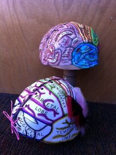 Check out these fun thinking caps! Stop by the Gateway Science Museum on March 2 to have a great time and make your very own brain hat map!
