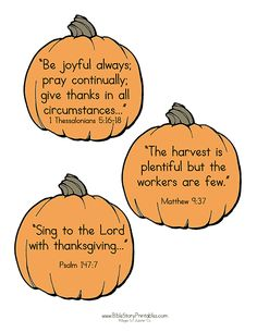 Free Thanksgiving Bible Verse Cards for Kids