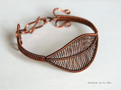 "Copper ""Leaf"" Bracelet by izabako, via Flickr"