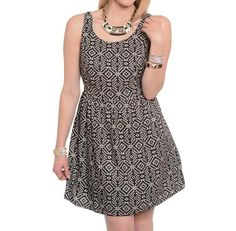 Plus size fashion for women - This beautiful sun dress features a tribal print.