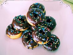 Sour cream donuts with chocolate glaze