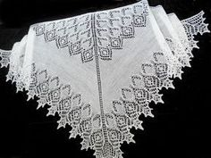 ideas for crochet scarf triangle lace shawl Knitting Charts, Lace Knitting, Knitting Stitches, Knitting Designs, Knitting Patterns Free, Knitted Shawls, Crochet Shawl, Crochet Scarf For Beginners, Crochet Edging Patterns