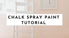 A little chalk spray paint can easily transform your furniture. Check out this post and video for spray painting tips, learn how to distress the paint, and be on your way to amazing new furniture! Spray Paint Chairs, Chalk Spray Paint, Spray Paint Furniture, Spray Painting, Painting Tips, Spray Paint Dresser, Spray Paint Cabinets, Chair Painting, Spray Paint Projects