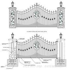 Anatomy of a Driveway Gate Drawing