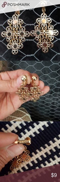 """Vintage Gold Tone clip earrings Sarah Coventry Vintage Gold Tone clip earrings Sarah Coventry called Golden Petals. 2"""" long Sarah Coventry Jewelry Earrings"""
