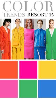 resort 2015 color trends #FashionForecast #TrendForecasting