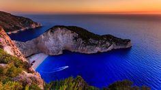 Ionian Islands Greece Navagio