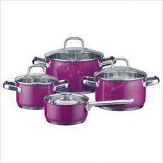 purple kitchenware