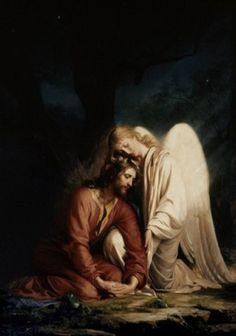 Christ in the Garden of Gethsemane by Carl Bloch ~ consoling angel
