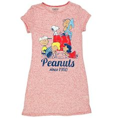 1c6153008f Peanuts Snoopy Juniors Nightshirt Pajamas (Teen Adult) (Peanuts Red)  Charlie Brown