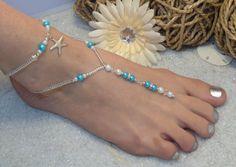 Starfish Foot Jewelry Wedding Barefoot von SilverSpoonLifestyle, $36,75