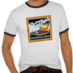 Peaches Records & Tapes T-shirts #Music #shirt #MusicDesign