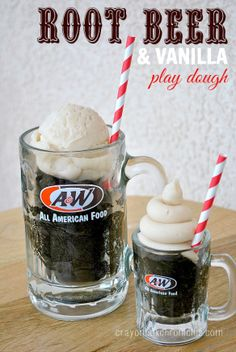 Root Beer Vanilla Float Scented Play Dough | Crayon Box Chronicles