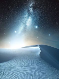 Desert & Milky-way come to meet each other on horizon
