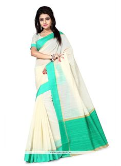 This pretty piece is a fairy tale that begins to unfold as you reveal your beauty in it. We unfurl our the intricacy and exclusivity of our creations highlighted in this lovely off white art silk casu...