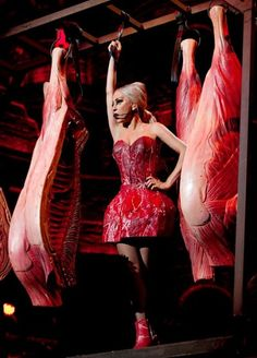 Gaga's new raw meat dress... What do you think of it?