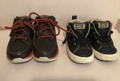 7cfeb368ae6 Lot of toddler size 7 shoes  -black converse shoes