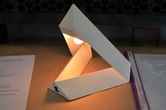"""""""Pyramid"""" desk lamps on Behance Origami And Kirigami, Origami Folding, Lamp Design, Lighting Design, Geometric Furniture, Origami Decoration, Table Lamp Sets, Architect Design, Lamp Light"""