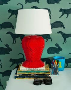 La lampe en légos.