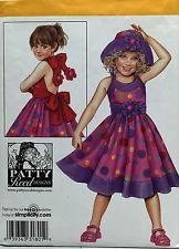 NEW 2008 Simplicity 2912 SEWING PATTERN Child's Dress & Hat CRAFT Size S,M,L