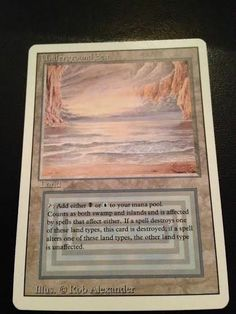 Revised Artist Proof Underground Sea Magic: the Gathering(MTG) MINT Unaltered!! Magic Cards, Magic The Gathering, Mtg, Island, Artist, Artists, Islands