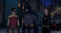 Batman, Robin and Catwoman work together