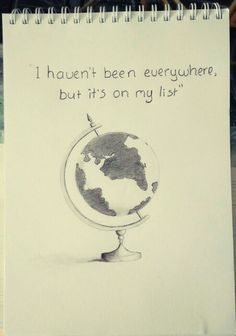I havent been everywhere, but its on my list globe drawing