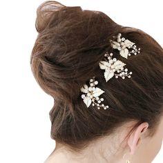 2017 3Pcs/Set Fashion Women Hairpin Simulate Pearl Hair Pin Ladies Girls Hairwear Wedding Bridal Hairstyles Hairs Accessories #WeddingHairstyles