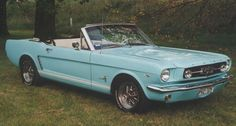 1965 Ford Mustang Convertible... vintage cars are the best!