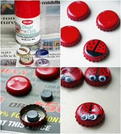 Crafting with bottle caps – 20 great recycling ideas for all ages - OutDecor. Bottle Cap Art, Bottle Cap Crafts, Bottle Top, Crafts To Make, Crafts For Kids, Arts And Crafts, Diy Crafts, Beer Cap Art, Beer Caps