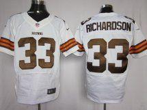 Cleveland Browns #33 Trent Richardson Elite White Jersey