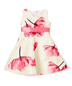 Kid Fashion Yellow & Pink Floral A-Line Dress - Infant, Toddler & Girls | zulily