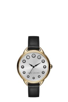 The Marc Jacobs Betty Strap 36MM features a polished stainless-steel case and…