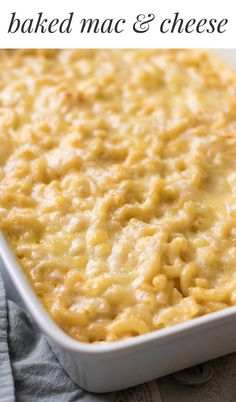 Rich and decadent baked macaroni and cheese made with a classic bechamel sauce and two types of cheese. It's rich, creamy and a perfect side dish for holiday dinners or any time you're craving some serious comfort food.