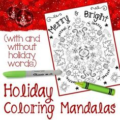 Holiday Coloring Man