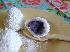 When Adobo Met Feijoada: Ube-Coconut Rice Balls