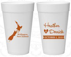 New Zealand Wedding, Personalized Foam Drinking Cups, Destination Wedding, Styrofoam Cups, Wellington Wedding (185)