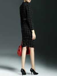 Plaid Double Breasted Midi Dress Love, but a little too short