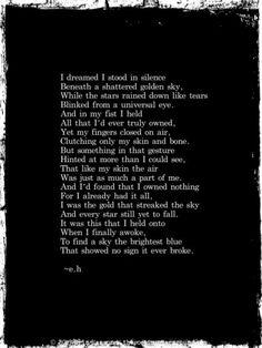 By Erin Hanson...poet extraordinaire!