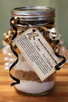 Make A Banana Bread Mix Gift Jar