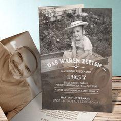 Geburtstagseinladungen Alte Zeiten 60 Detail