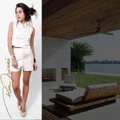 Un look fresco y elegante para los días mas calurosos! Top y short en blanco! Cómpralo en nuestra tienda online http://www.rosermicalo.com/ #moda #glam #exclusive #design #fashion #summer #white #lookoftheday