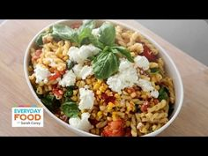 Grilled Tomato and Corn Pasta Salad - Everyday Food with Sarah Carey (+p...