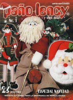 Revista navideña gratis Book Crafts, Crafts To Make, Arts And Crafts, Craft Books, Christmas Books, Christmas Crafts, Christmas Ornaments, Felt Dolls, Minnie
